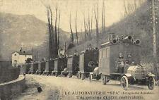 X443) WW1 AUTOBATTERIE SPA. ARTIGLIERIA ANSALDO, CARRI OSSERVATORIO.