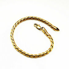 Luxury 4 mm width 18 k Gold Plated Unisex Bracelet for Men Women Jewellery BB111