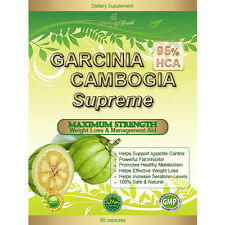 GARCINIA CAMBOGIA SUPREME EXTRACT 100% PURE EXTREME Diet Weight Loss 95% HCA