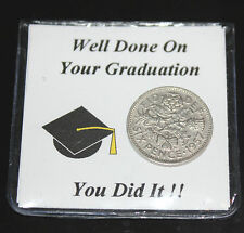 LUCKY SIXPENCE COIN GRADUATION KEEPSAKE PASSING EXAMS GIFT