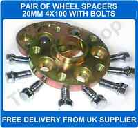 Seat Ibiza 93-02 Hubcentric Wheel Spacers 4X100 PCD 57.1 CB 1 Pair + Bolts 20MM