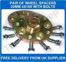 BMW E30 82-90 Hubcentric Wheel Spacers 4X100 PCD 57.1 CB 1 Pair + Bolts  20mm