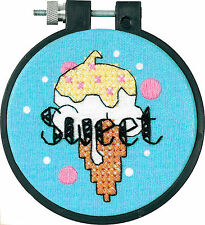 'Learn a Craft' Cross Stitch Kit ~ Sweet Ice Cream EASY FOR BEGINNERS #73267
