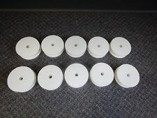 "Lot of 25 Empty 4"" White Spools Hard Plastic Wire Bobbins Craft Thread Sew Spool"