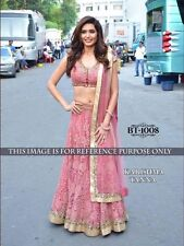 BOLLYWOOD DESIGNER PARTY WEAR PINK COLOR HEAVY UNSTITCHED LEHENGA CHOLI