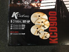 "Zildjian KCD900 K Custom Series 5 pc. Cymbal Set 20"", 16"", 14"" pr., FREE 18"""