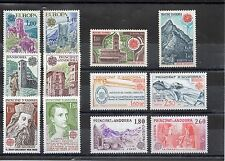 EUROPA ANDORRE 1977 1978 1979 1981 1982 1983 12 TP neufs luxe sans charnieres