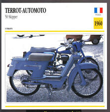 1960 Terrot-Automoto 50cc Skipper Scooter Moped Motorcycle Photo Spec Sheet Card