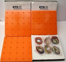 "LOT OF 3 - ETA Cuisenaire Double Sided 7-1/2"" Orange Geoboard (ETA 4880-1)"