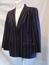 1960s Regatta Striped Navy Blue Boating Blazer Sport Coat Jacket