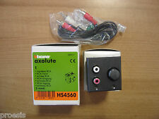 BTICINO HS4560 Axolute dunkel My Home Eingang RCA flush mount 2 module