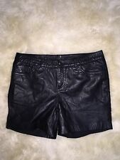 Nwt Jcrew Madewell Won Hundred Leather Demure Shorts $391 24230 Sz 38 XS SOLDOUT