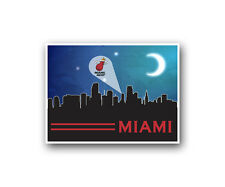 Miami Heat Poster City Skyline Art Print Man Cave Decor 12x16""