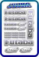 FUTABA SERVO RADIO RX TX 2.4G FLIGHT REMOTE CONTROL STICKERS FASST GREY BLEND W