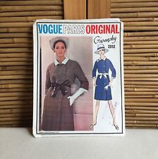 RARE Vintage VOGUE PARIS ORIGINAL 'Givenchy' #2012 Dress SEWING Pattern SIZE 12