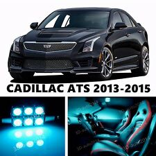 15pcs LED ICE Blue Light Interior Package Kit for CADILLAC ATS 2013-2015