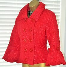 Amazing Designer ⭐️ Paraphrase ⭐️ Unusual Red Dress Coat Jacket Size 12