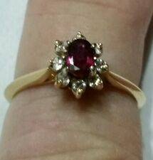 Vintage 1ct. Natural Ruby and Diamond 14kt. Yellow Gold Ring