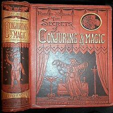 1878 SECRETS CONJURING MAGIC ROBERT HOUDIN 1ST EDITION WIZARD OCCULT TRICKS BOOK