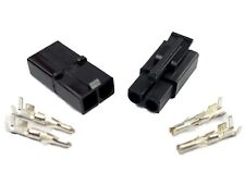 10 Battery Charger Connector Sets (M + F) Terminals Accumate Compatible BLACK