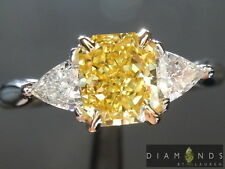 1.20ct Fancy Vivid Yellow Radiant Cut Diamond Ring GIA R6059 Diamonds by Lauren