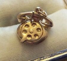 Lovely Quality Full Hallmarked Vintage Solid 9ct Gold Early Telephone Charm Nice