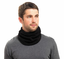 Black Fleece Neck Warmer / Scarf with Adjustable Toggle