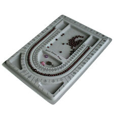 Flocked Bead Board String Craft Tool Beading Jewellery Design Organiser Tray  HK