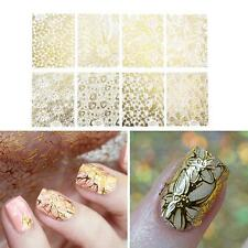 8pcs 3D Adhesive Nail Art Stencil Stickers Flower Manicure UV GEL Decal DIY Tips