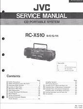 JVC original service pour rc-x 510