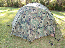 USMC 2 Man Tactical Combat Tent & Rain Fly & Repair Kit & Poles Diamond Brand
