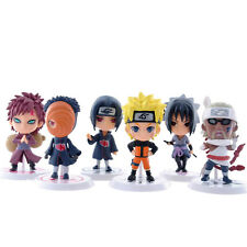 6pcs NARUTO 7cm PVC Action Figure Model Collectible Car Ornament Toys Gift