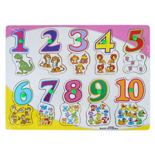 BRAND NEW KIDS WOODEN EDUCATIONAL JIGSAW PUZZLE TOYS PRE SCHOOL NUMBERS