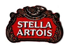New Stella Artois Beer Red 2 X 3 3/4   Inch  Iron on patch Free Shipping