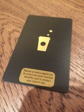 Rare 2008 Starbucks Black Gold Gift Card! 6050 Serial #
