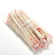 40 Pairs Chinese Disposable Bamboo Wooden Chopsticks Individually Wrapped DS