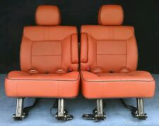 2009 2008 Hummer H2 2nd Row Captains Chairs Brick Red Leather