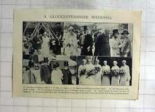 1926 Captain L C Bellamy Marries Miss N Kelly Westbury On Severn