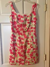 Lilly Pulitzer Lined Shift Resort Dress Daisy and Lilly Script Pattern Size 4
