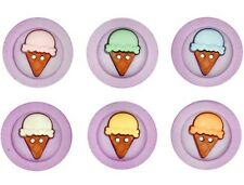 Sew Fun Ice Cream Cones Two Hole Novelty Buttons Jesse James Theme Pack