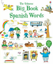 USBORNE BIG BOOK OF SPANISH WORDS (Oversized Board Book) - learn spanish NEW
