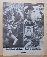1969 magazine ad for Imperial Whiskey - Rock Climbing, Taste name of the game