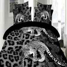 Sale 3D Black Leopard Queen Size Pillowcases Quilt Cover Duvet Cover Sale
