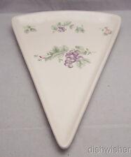 Pfaltzgraff Grapevine Triangular Pizza Slice Plate HTF