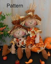 PATTERN Primitive Raggedy Baby Scarecrow Doll # 83 Harvest Autumn Fall Folk Art