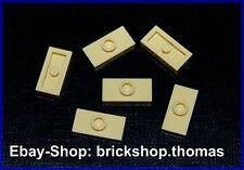 Lego 6 x Konverter Platten beige 3794 Plate 1 x 2 Jumper Reddish Tan NEU / NEW