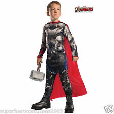Avengers Age of Ultron Thor Deluxe Costume Marvel Comics Size 8-10 Rubies 610432