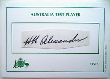 HARRY ALEXANDER AUSTRALIAN BODYLINE 1933 INK AUTOGRAPH
