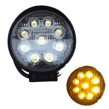 YELLOW 27W CREE LED Work Light Round Offroad Truck SUV ATV 4WD Fog Forklift lamp