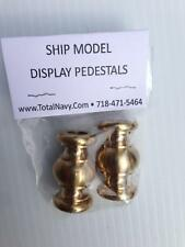 Model Ship Display Pedestals - Brass